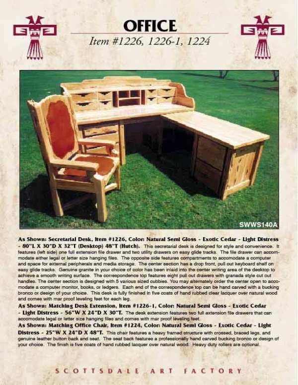Desk - Solid Wood Office Furniture - Western Style Desks