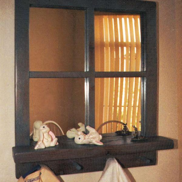 Windowpane Mirror with Shelf- CSM828