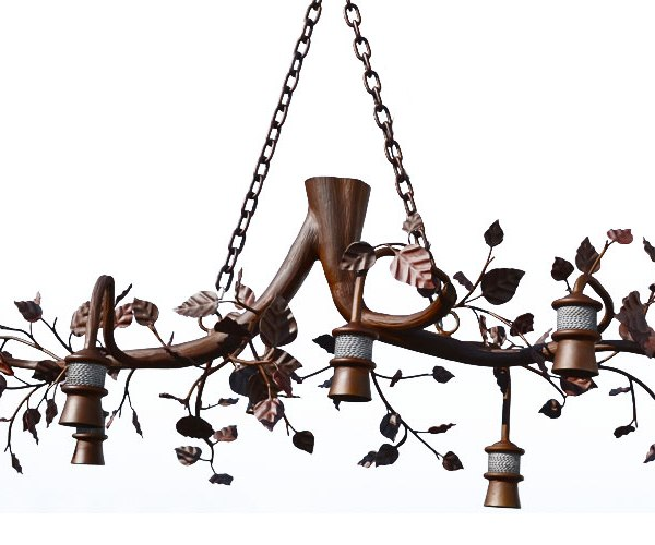 Chandelier Wrought Iron Natural Branch Chandelier - LC834