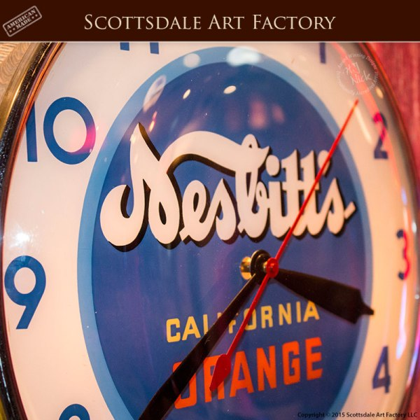 Nesbitt's - California Orange - Clock-VS203