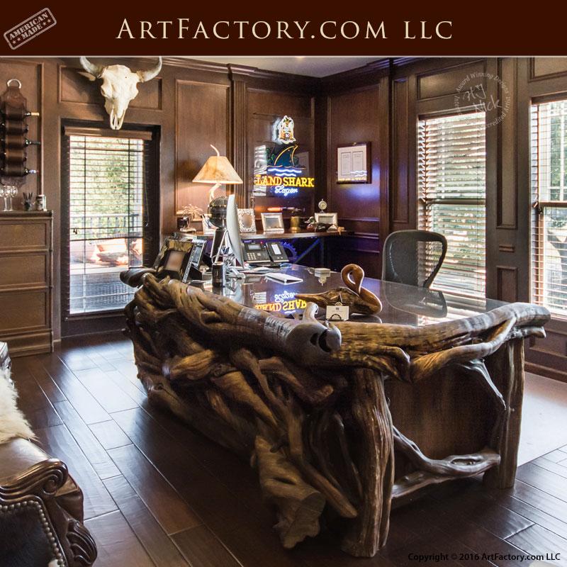 Wild Wood Log Office Desk - LEW714B