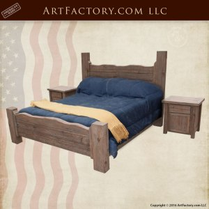 Rustic Cedar Bed Set with Natural Grain - BRS178B