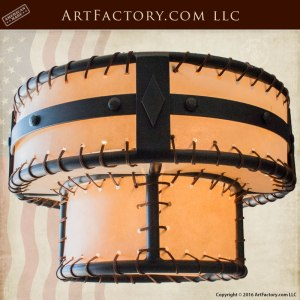 Two Tiered Hand Forged Iron Chandeliers - Craftsman - CCRH876