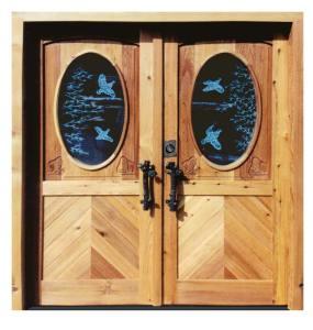 Entry Doors - Jagdschloss Glienicke German 18th Cen - 4382GP