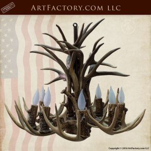 Antler lighting natural antler chandeliers lamps and more fine art antler chandelier hand made chandeliers lca54 aloadofball Images