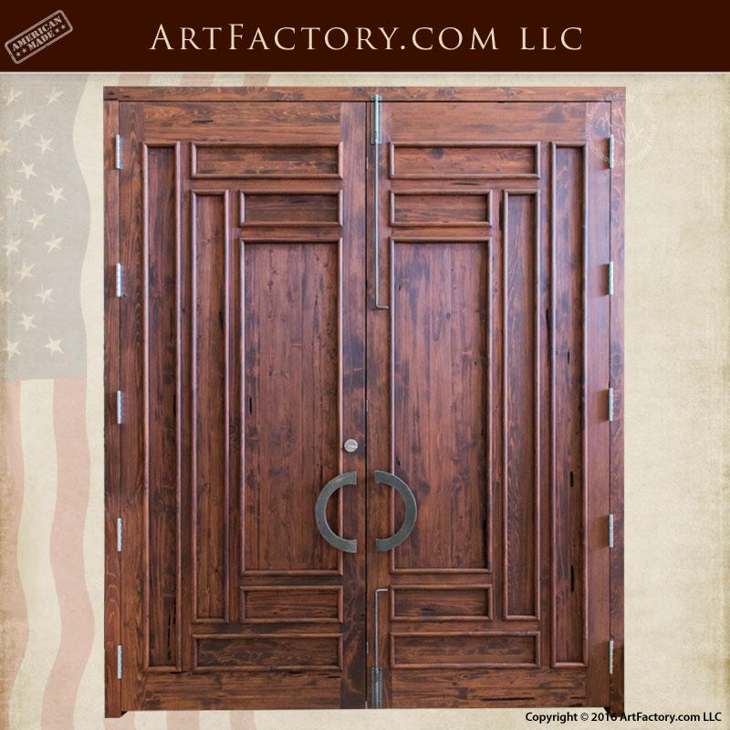 Slim Panel Craftsman Solid Wood Exterior Door - CSW1200