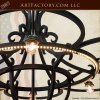 Greek Inspired Flower of Life Chandelier