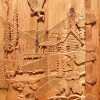 Fishing Cabin, Woods Master Hand Carved Heirloom Door -  5110HC
