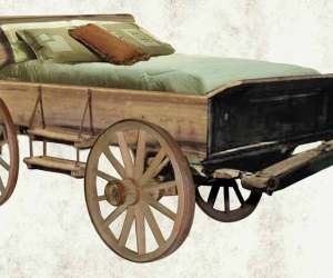 Wagon Bed - Antique Western Wagon Beds - CBB626
