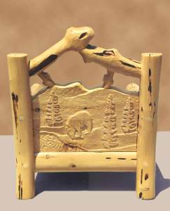 Chair Hand Carved Lodge Style Made In USA - MLS550A