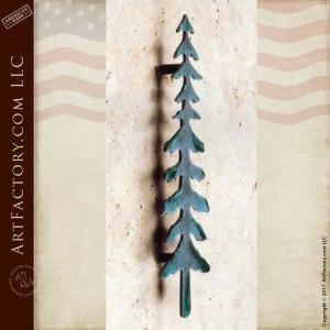Custom Pine Tree Door Pull - HH153