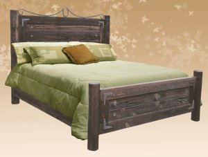 King Bed - Rustic Style Bed - SPB429