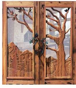 Carved Doors - Chateau de Thorens 14th Cen France - 2341HC2