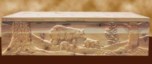 Hope Chest - Hand Carved Wilderness Theme - MMLC589
