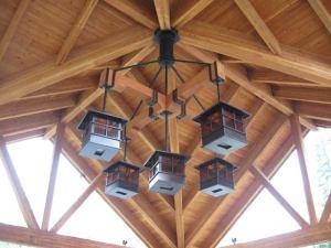 Porte-Cochere Craftsman Lantern Lighting - CRFT9080