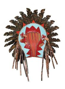 Copper Sconce - Native American Indian Headdress - LS0634