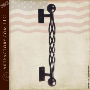 Custom Made Twisted Wrought Iron Door Pull  HH021