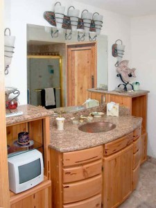 Bath Cabinets In True Tuscany Style  - CH2029