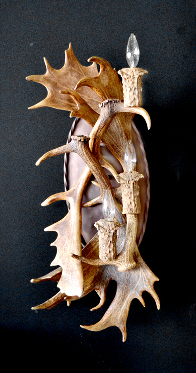 Wall Antler Sconce - Design From Historic Record  - MS700