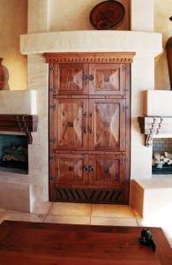 Built In Media Center Hand Crafted In Solid Wood  -  SPET437