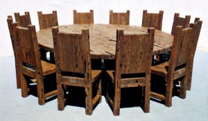 Dining Table - Round Castle Dining Table - CBT607