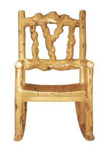 Rocking Chair - Hand Carved Lodge Style Rocker - MLR530