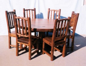 Round Table - Round Lodge Dining Table  - MLT541