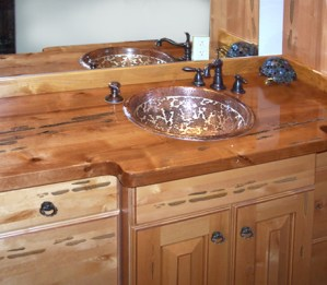 Custom Cabinets With Counter Tops - Handcrafted in USA - BATH9 2
