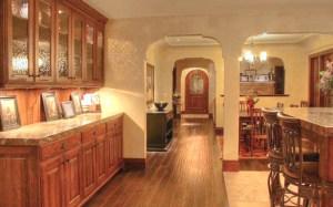 Custom Kitchen Glass Cabinets And Granite KIT5444