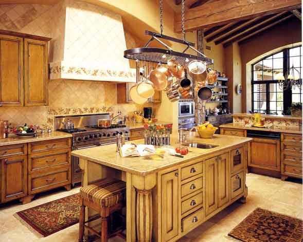 Timber Style Kitchen Cabinets / Pot Rack kit 2202