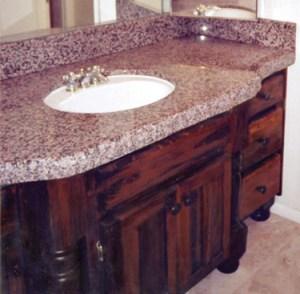 Bath Room Vanity - Hand Built Custom Cabinets - BATH973