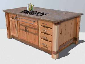 Kitchen Island - Designed from Historic Record -  KIT962