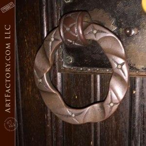 Custom Ring Hand Forged Door Pulls - HHR90