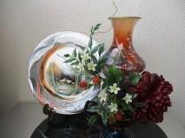 絵皿とトルコランプ