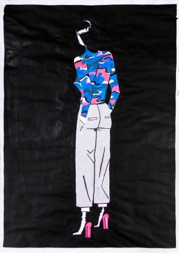 Illustrazioni Seriali_AAF, Emiliano Ponzi, It_s not good enough #5, 2018, acrilico su carta Bleedproof Winsor and Newton, 42x29,7 cm