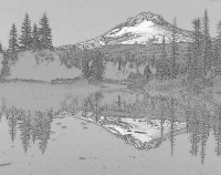 mountain balck and white effect