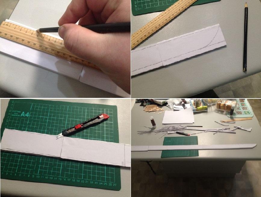 Membuat Pedang Samurai Dengan Lipatan Kertas