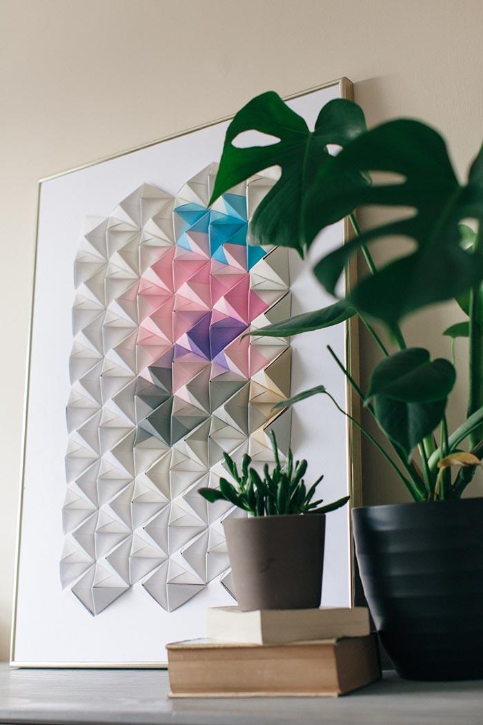 Hiasan Dinding Dari Lipatan Origami