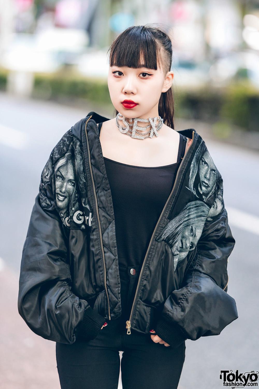 Gaya Rocker Serba Hitam Dalam Harajuku Fashion Jepang