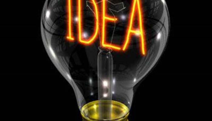lightbulb with the word Idea written in the middle