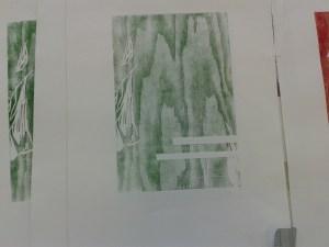 erste Drucke beim Holzschnitt