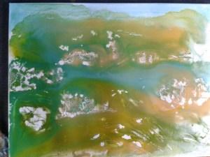 Kleister und flüssige Farbe
