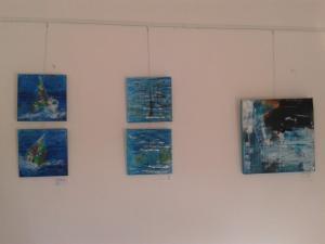 Die Bilder hängen für die ersten Flensburger Ateliertage in unserem Atelier am Holm 35 !!