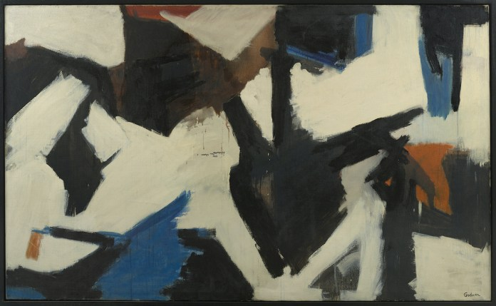 """Judith Godwin, Into the Depth, 1957, oil on canvas, 51 1/8 x 84"""". Courtesy Berry Campbell, New York"""