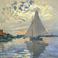 "Sailboat at le Petit Gennevilliers"""