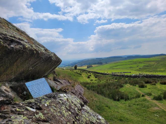 View towards fells from Foxes Pulpit, Firbank Fell