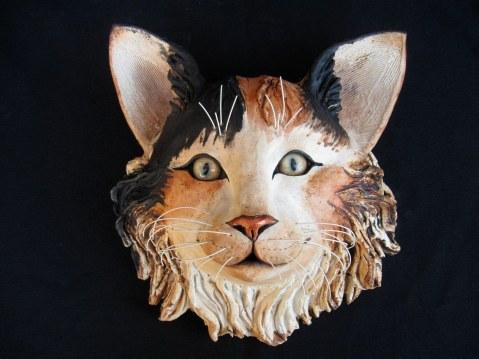 """Cat Wall Head - approx. 9""""-10""""H x 8""""-9""""W x 6""""-7""""D"""