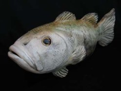 """Large Mouth Bass - approx. 7""""H x 5""""W x 17""""L"""