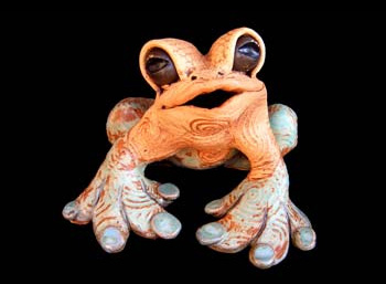 "Small Table Frog - approx. 7""H x 7'W x 10""D"