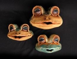 "Wall Frogs Medium: approx. 5.5""H x 8.5""W x 6.5""D Small: approx. 4.5""H x 6.5""W x 4.5""D"